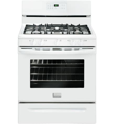 Oven Gas Home Industri frigidaire 4 2 cu ft gas range in white ffgf3005mw the