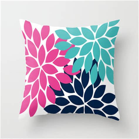 Pink And Navy Throw Pillows Shop Pink And Navy Pillows On Wanelo