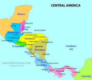 map of central america inspiration for board