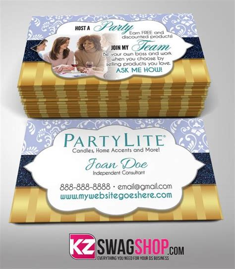 partylite business cards style 4 kz swag shop