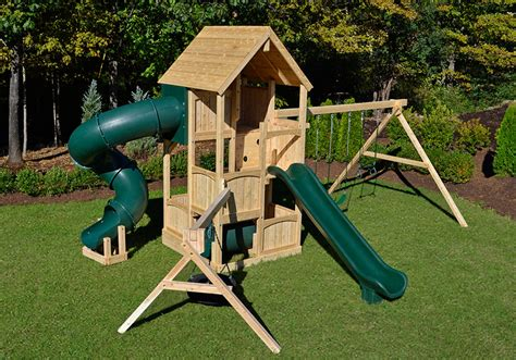 large wooden swing cedar swing sets canterbury deluxe by triumph play systems