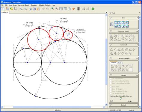 software drawing tools geometry expressions