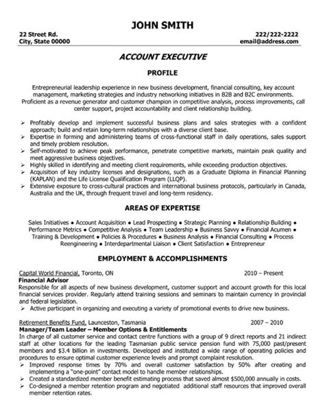 account executive resume template premium resume sles