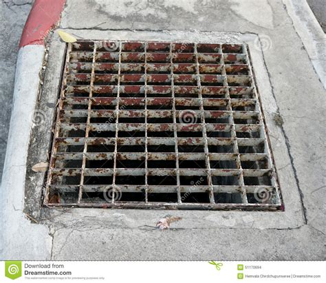 Sewer Drain Sewer Drain On The Footpath Stock Photo Image 51170694