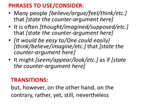 In A Research Paper Would Counter Arguments Be Necessary by Counterargument D 233 Finition What Is