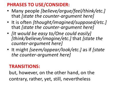 counterargument exles