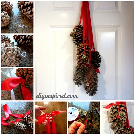 Cone Decorations by Hanging Pine Cone Decoration Diy Inspired