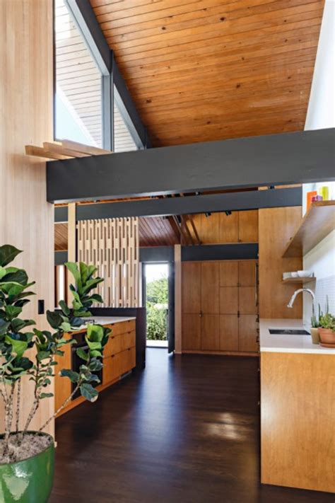 stylish mid century house with warm colored wood decor stylish mid century house with warm colored wood decor
