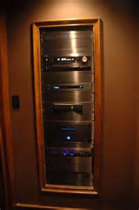 home theater component rack i really like the look of properly done in wall racks in a