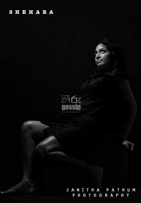 Shehara Senanayake Black Photoshoot - Sri Lankan Actresses