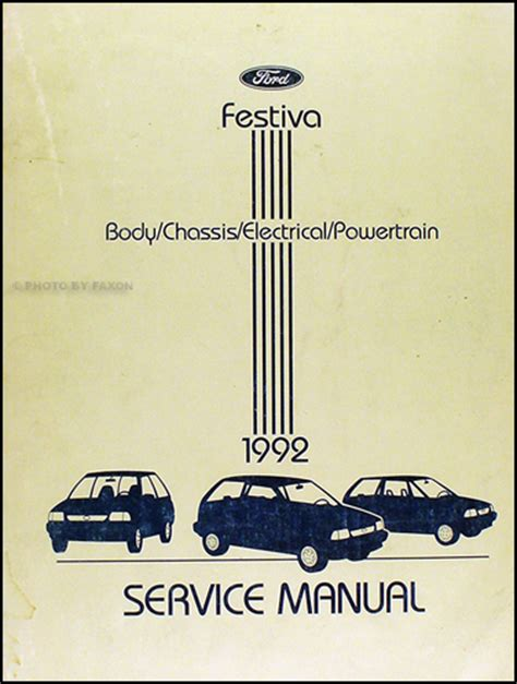 manual repair free 1992 ford festiva on board diagnostic system 1992 ford festiva repair shop manual original