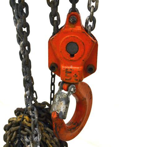 Heavy Duty Chain Block 3 Ton X 5 0m Krisbow Kw0501395 elephant chain block 5 ton 10 ft lift chain c21 5 heavy duty manual chain hoist ebay