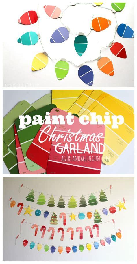 paint chip garland allfreechristmascrafts