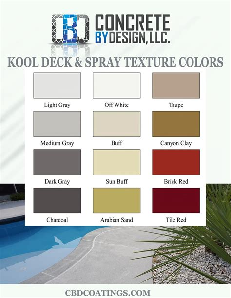 spray colors deck spray texture colors concrete by design llc