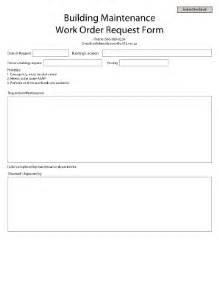 building maintenance request form fill online printable