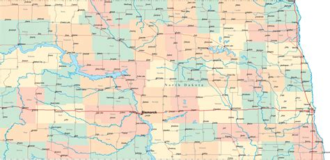 nd map dakota road map nd road map dakota highway map