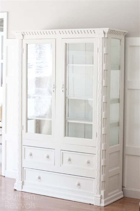 Handcrafted Mahogany China Cabinet Makeover   Southern Revivals