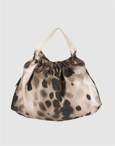 Sissi Rossis Shoulder Bag by Sissi Large Fabric Bag In Animal Grey Lyst