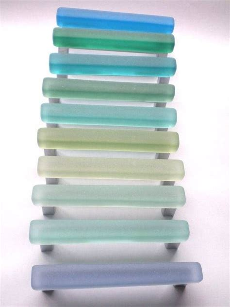 sea glass cabinet pulls beach glass look pulls my beach glass obsession