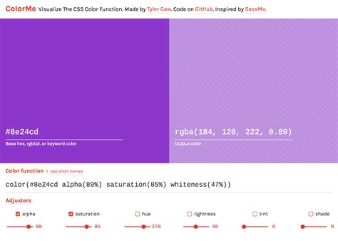 color css colorme css color level 4 browser zone