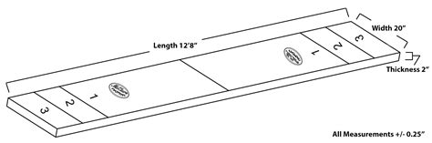 shuffleboard table dimensions official 14 harvard shuffleboard table mcclure tables