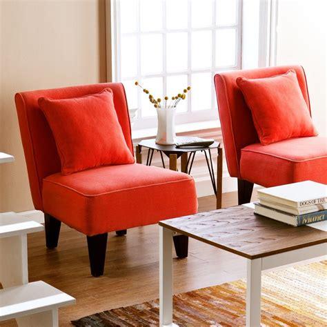 orange living room chair shop holly martin set of 2 purban red orange linen