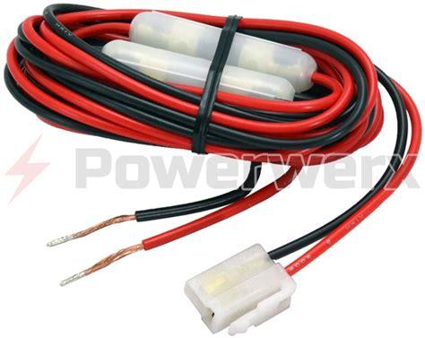 power cable for fm radios fits powerwerx db 750x yaesu
