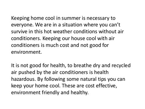 cool tips to steunk your home natural tips to keep your home cool in summer