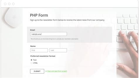 simple php page template simple php contact form script for your website