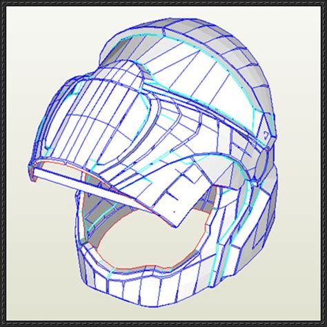 Papercraft Helmet Template - interstellar marines helmet papercraft free template