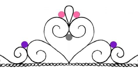 template for royal icing tiara cake topper oh yeah