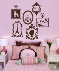 Paris Themed Wall Murals paris vinyl wall decals french frame collage graphics