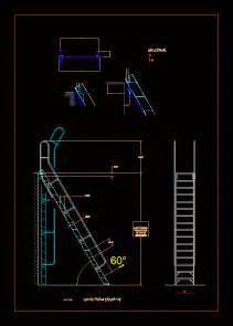 ladder  roof access  dwg elevation  autocad