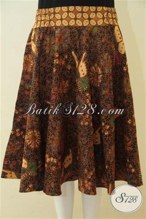 Rok Batik Katun Jarik Halus Fit Xl rok batik warna coklat jarik motif kupu kupu model baju