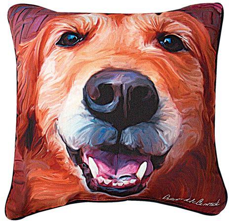 artistic pillows golden retriever artistic throw pillow 18x18 quot