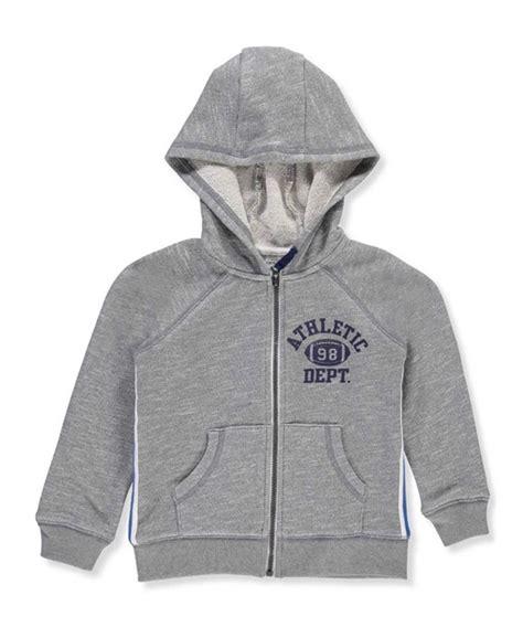 baby boys striped zip  hoodie heather blue ceicti