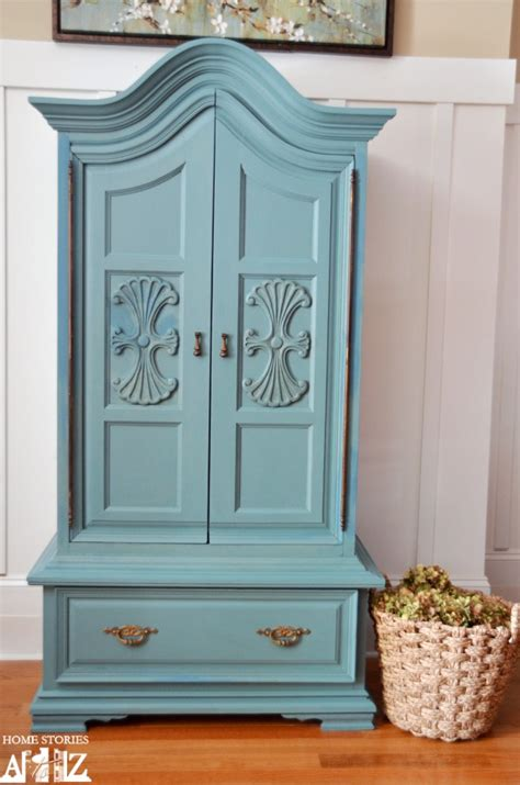 blue armoire painting furniture home stories a to z