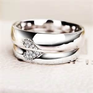 personalized wedding bands personalized half shaped promise rings for him and personalized couples gifts his
