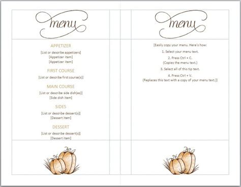 menu printable template blank menu templates free best agenda templates