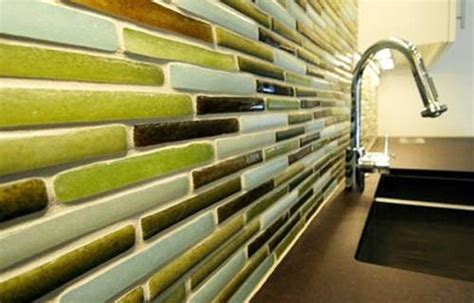 recycled glass tile backsplash refresheddesigns green idea eco friendly kitchen
