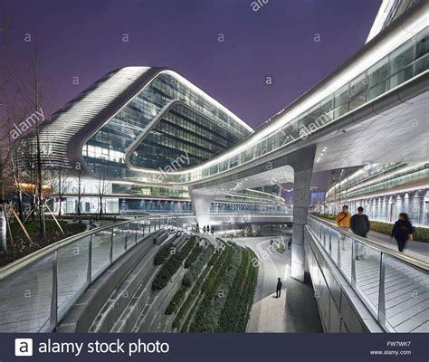Lala. Sky SOHO, Shanghai, China. Architect: Zaha Hadid Architects Stock Photo, Royalty Free