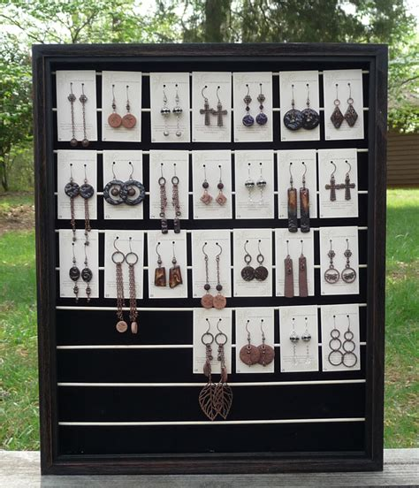 DIY Shadow Box Earring Display Rack For Craft Shows   Cotton Ridge Create!