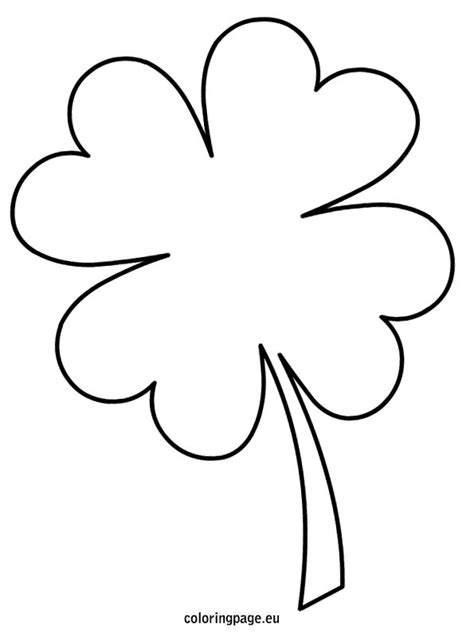 four leaf clover template st patrick s day pinterest