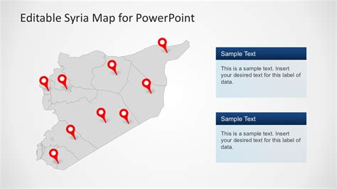 editable syria map powerpoint template slidemodel