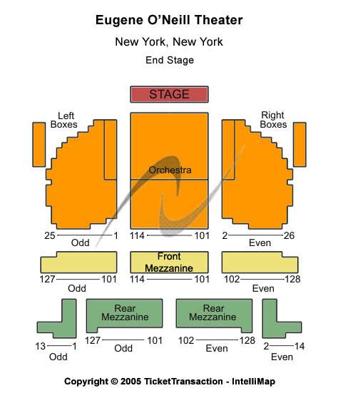 eugene oneill theatre seating views book of mormon tickets eugene o neill theatre seating