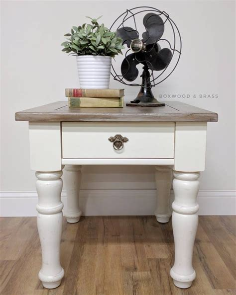 antique white end tables end table in antique white brown glaze