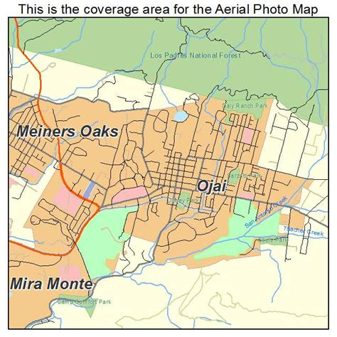 where is ojai california on a map aerial photography map of ojai ca california