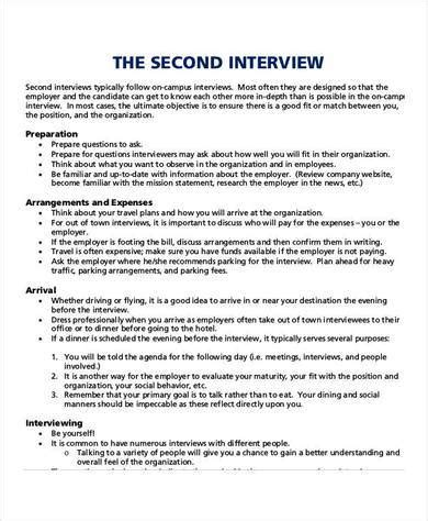 interview agenda samples  templates  word