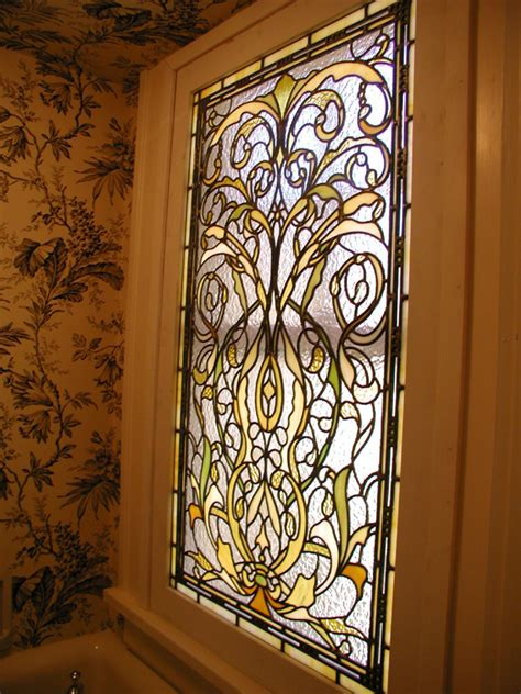 stained glass bathroom window bathroom stained glass window for landmarked home