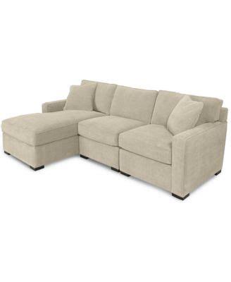 radley 5 fabric chaise sectional sofa radley fabric sofa furniture macy s